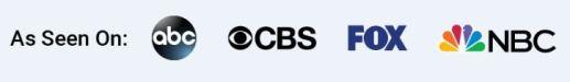 As Seen On ABC NBC FOX CBS